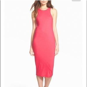 Leith. Coral racerback tank dress
